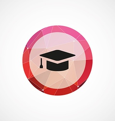 Education circle pink triangle background icon vector