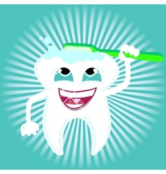 Tooth dental care health vector