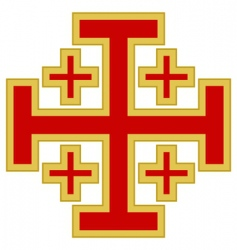 Jerusalem cross vector