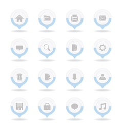 Pointer web icons vector