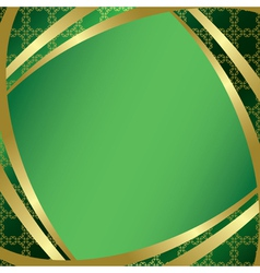 Green frame with center gradient vector