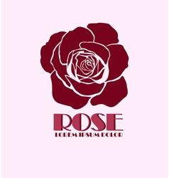 Rose logo design template vector