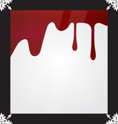Blood dripping blood background vector