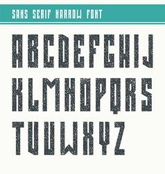 Bold sans serif font in retro style vector