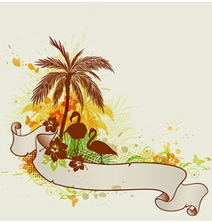 Summer tropical background with palms vector