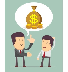 Businessmen discussion vector