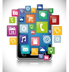 Smartphone applications design vector