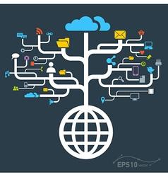 Network globe worldwide vector