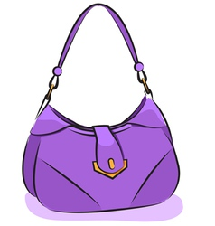Womens purple handbag vector