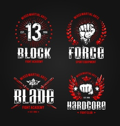 Grunge fightclub prints 1 vector