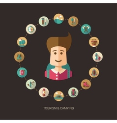 Modern flat design of camping and vector