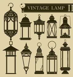 Vintage lamp ii vector