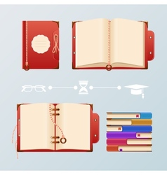 Colorful book vector
