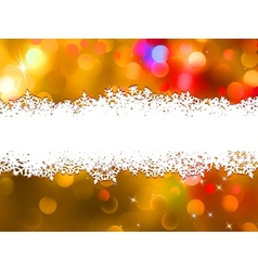 Orange christmas background with copyspace eps 8 vector
