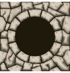 Circle frame with stone seamless pattern vector