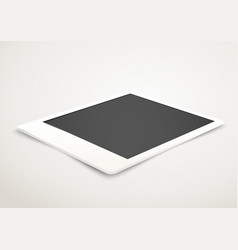 Blank photo frame in perspective vector