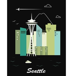 Seattle city vector