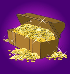 Old treasure chest vector