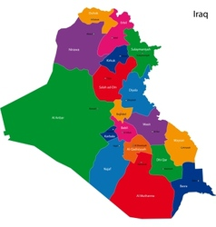 Iraq map vector