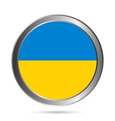 Ukraine flag button vector