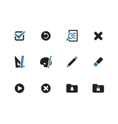 Application interface icons on white background vector
