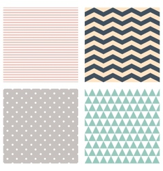 Cute patterns collection background vector