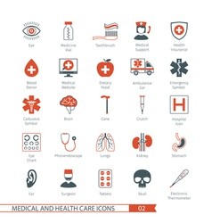 Medical and health care icons set 02 vector