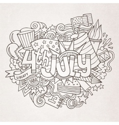4th july independence day hand lettering and vector