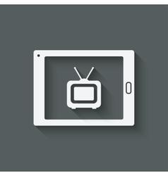 Online tv symbol vector