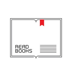 Border with inscription - read books outline open vector