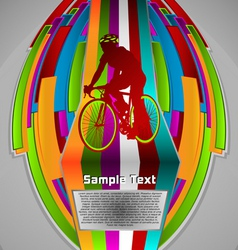 Summer sport design series cycling theme vector