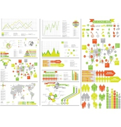 Infographic yellow vector