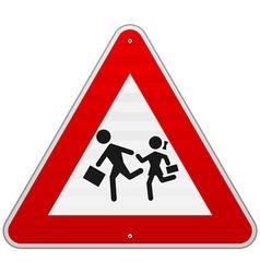 Pedestrian danger sign vector