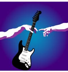 Creation of adam guitar vector