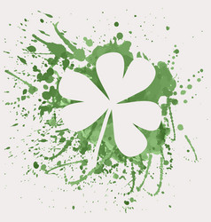 Shamrock for st patricks day with green vector