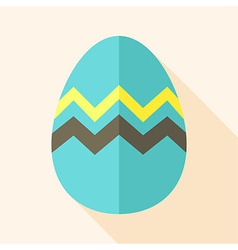 Easter egg with zig zag vector