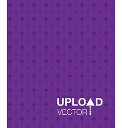 Purple upload background vector