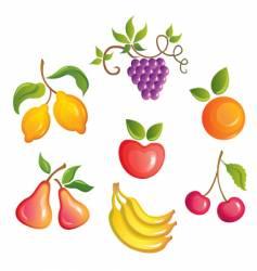 Appetizing fruits vector