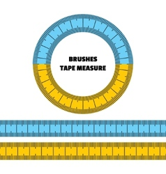 Tape measure set of brushes frame vector