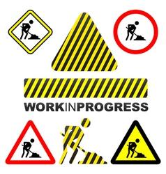 Work in progress icon vector