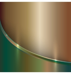 Abstract precious old metal background with curve vector