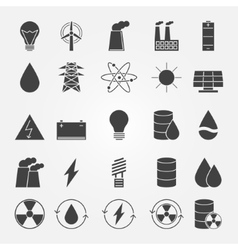 Energy industry icon set vector