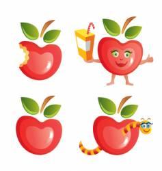 Apple icon set vector