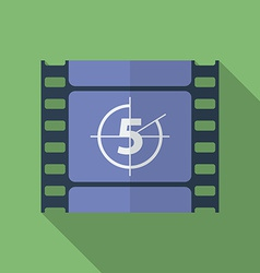 Icon of film frame cinema film flat style vector