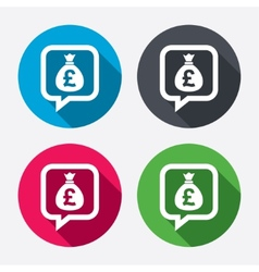 Money bag sign icon pound gbp currency vector