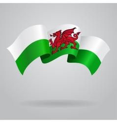 Welsh waving flag vector