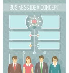 Business idea infographics vector