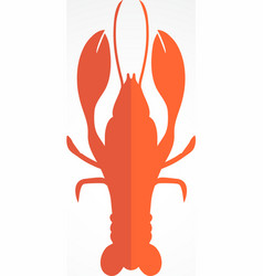 Lobster logo template design for seafood vector