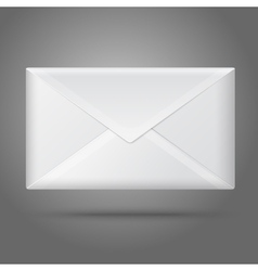 Blank white closed envelope isolated vector