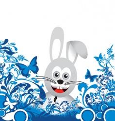 Floral bunny vector
